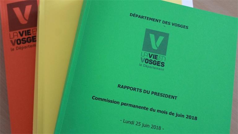 52 rapports adoptés à l'unanimité en Commission permanente